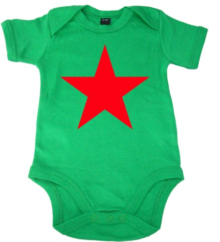 Racker n-roll rED sTAR baby-green bébé-body vert - Vert - 3 mois