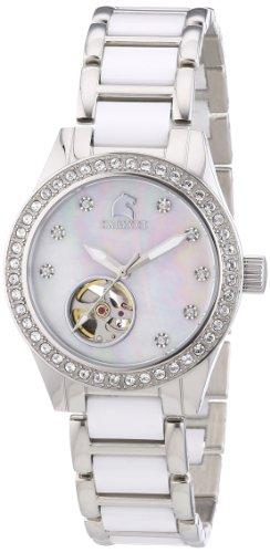 Carucci Watches CA2206WH - Orologio da polso donna, ceramica, colore: bianco