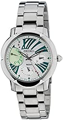 Seiko Criteria Chronograph White Dial Womens Watch - SNT879P1