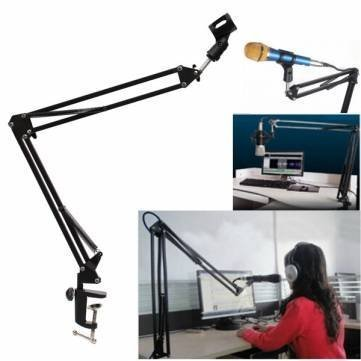 Microphone Suspension Boom Scissor Arm Stand Holder For Broadcast by Completestore (Fake Robot Arm compare prices)