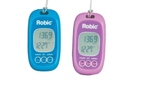 Robic Accelerometer Pedometer with 2-Axis Advanced Motion Sensor – Blue