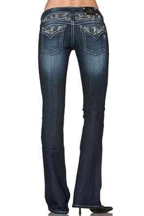 Miss Me Bootcut Jeans JP5124B10,Dark Blue,31 (11/12) Long (34L)