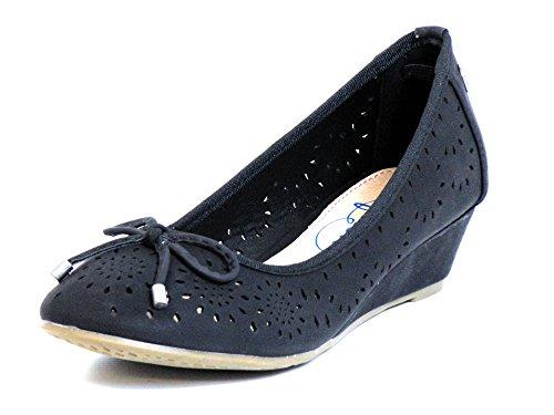 Donna scarpa décolleté nero, (schwarz) 61726 NEGRO