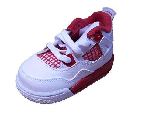 [308500-106] AIR JORDAN AIR JORDAN 4 RETRO (TD) INFANTS SHOES WHITE BLACK GYM RED
