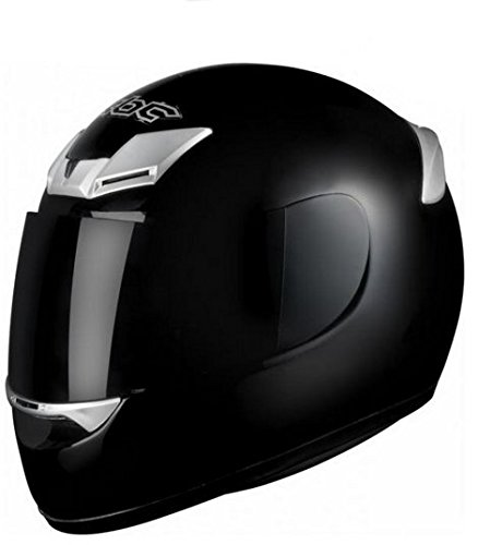 KBC XP3 FULL FACE MOTORCYCLE MOTORBIKE CRASH HELMET RACING RACE LID J&S (MEDIUM M 58 CMS, BLACK)