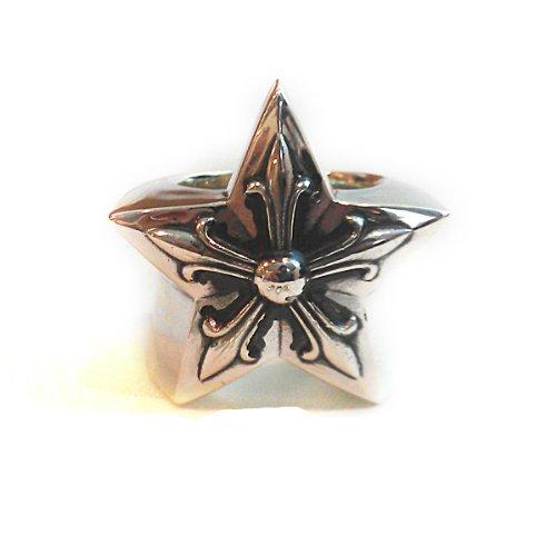 [クロムハーツ] スター ラージ シルバー リング / CHROME HEARTS Star large silver ring [並行輸入品]
