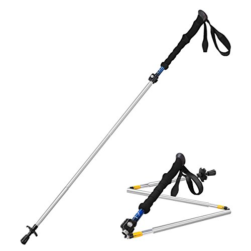 himal-1-pcs-folding-collapsible-travel-hiking-walking-stick-trekking-pole-with-eva-foam-handle-silve