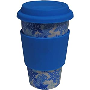 Eco Cup Holiday Edition - Blue Snowflakes