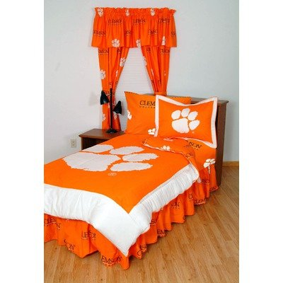 Clemson Bed in a Bag with Team Colored Sheets Size: King