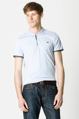 Short Sleeve Semi Fancy Pima Jersey Slim Polo