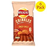 Walkers Crinkles Sweet Chilli Crisps 6x6x28g