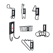 Racor InterChange ICK-11B 23-Piece WallDocking Kit, Black