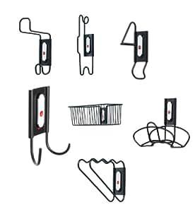 Racor InterChange ICK-11B 23-Piece WallDocking Kit, Black