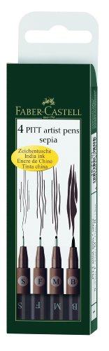 Faber-Castell Pitt artista 4Es estuche de plumas sepia [Importado de Alemania]