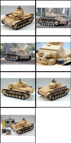 Airsoft 1/16 TauchPanzer III RTR Remote Control RC Battle Tank