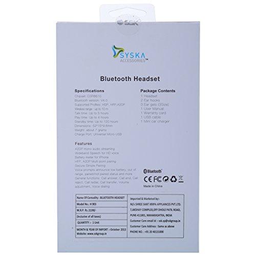 Syska 903 Bluetooth Headset
