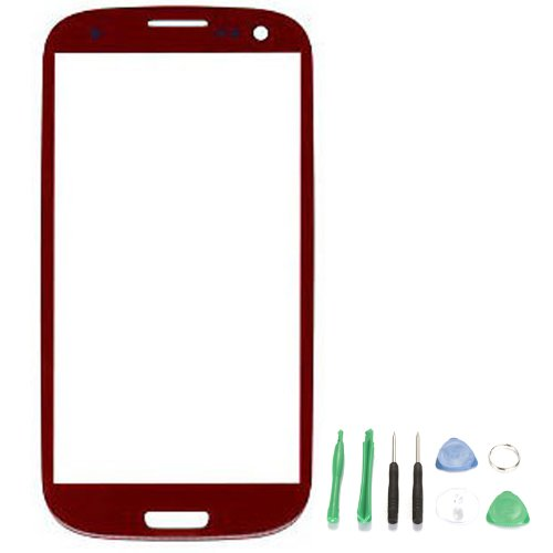 Replacement Glass For Samsung Galaxy S4 Mini I9500 I9190 I9195 I9192 - Free Tools Red