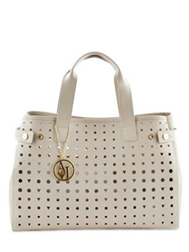Armani Bolso Shopping Perforado Ecopi, Poschette giorno donna beige Size: M