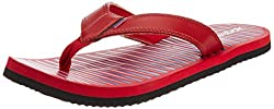 Reebok Mens Solar Flip II Lp Red, Blue, Black and White Synthetic Flip-Flops and House Slippers - 10 UK