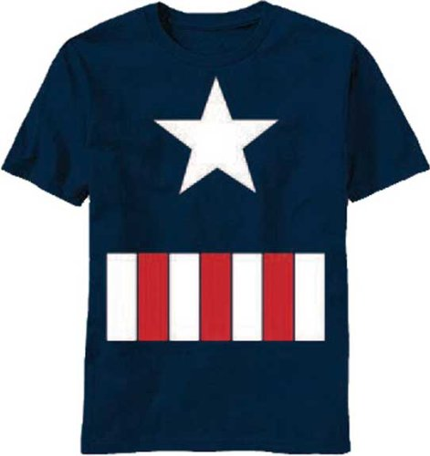 Captain America Costume Style Juvenile Kids Marvel T-Shirt