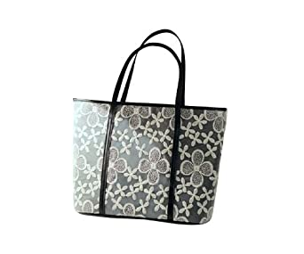 Cool2day Girls Graceful Lace Flower Design Shoulder Handbag (Model: B010436) (Black)