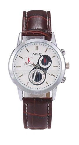 Mens Cool Fashion Casual Quartz Analog Sport Wrist Watch-White