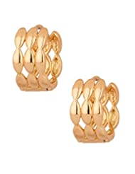 Voylla Pair Of Gold Tone Pretty Hoop Earrings