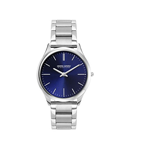 Jorg Gray Signature Collection Women's Quartz Watch with Blue Dial Analogue Display and Silver Stainless Steel Bracelet JGS2551B