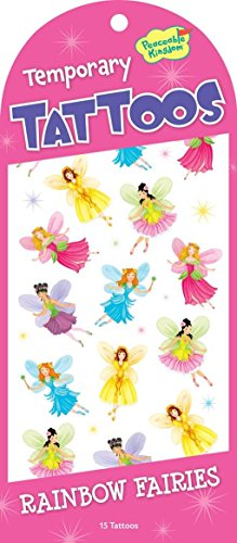 Peaceable Kingdom Rainbow Fairies Temporary Tattoos