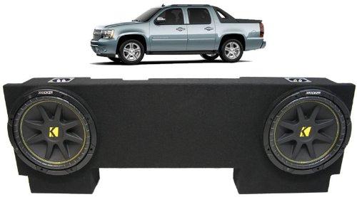"Asc Package Chevy Avalanche 02-13 Dual 12"" Kicker C12 Subwoofer Under Seat Sub Box Enclosure 600 Watts Peak"