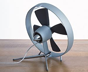 Black + Blum Propello Desktop Fan Aluminium Designed In London - Grey