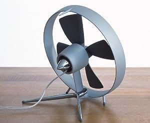 Black + Blum Propello Desktop Fan Aluminium Designed In London - Grey