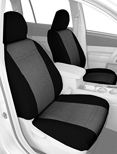 CalTrend Front Captain Chairs Custom Fit Seat Cover for Select Hummer H2 Models - Tweed (Light Grey/Black) (Hummer H2 Caltrend compare prices)