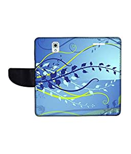 KolorEdge Printed Flip Cover For Samsung Galaxy Note 3 Multicolor - (55KeMlogo10005SamNote3)