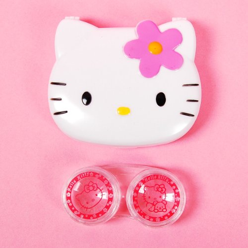 Hello Kitty Contact Lenses Case Set Care White