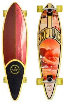 "Kryptonics 37"" Longboard - ""Surf Map"" - Serie California"