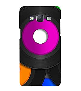 TRICOLOURED VINTAGE MUSIC RECORDS PATTERN 3D Hard Polycarbonate Designer Back Case Cover for Samsung Galaxy A7 (2015 Edition) :: Samsung Galaxy A7 A700F (2015)