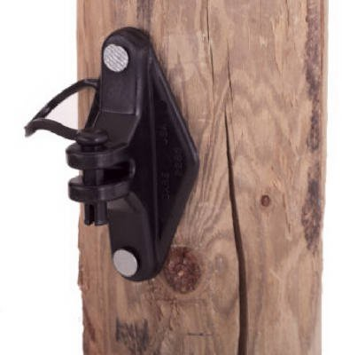 Dare Products 2249-25 Electric Fence Insulator, Wood Post Pinlock, With Nails, Black, 25-Pk. - Quantity 20