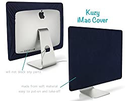 Kuzy - BLACK Screen Cover for iMac 27-inch Dust Cover Display Protector Models A1312 and A1419 - Black 27 Navy Blue 21.5-inch