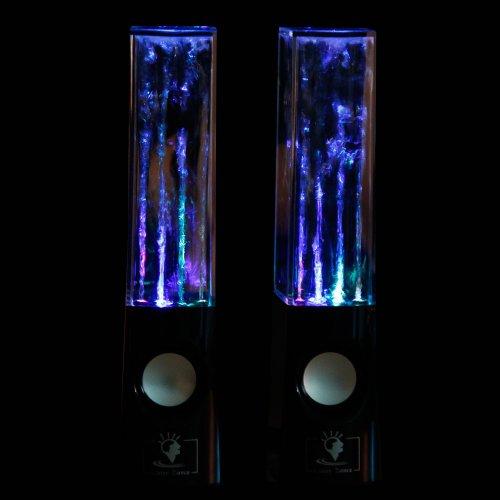 New Black Music Water Fountain Speaker Dancing Led Lights Laptop Computer