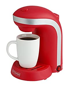 Kitchen Selectives Single Drip Coffee Maker with Mug, Red, Color Play