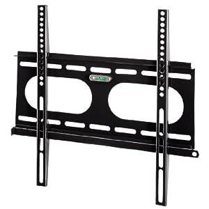 Hama 11757 TV Wandhalterung, 58-142cm (23- 56 Zoll), VESA 400x400, max. 50 kg, starr, schwarz