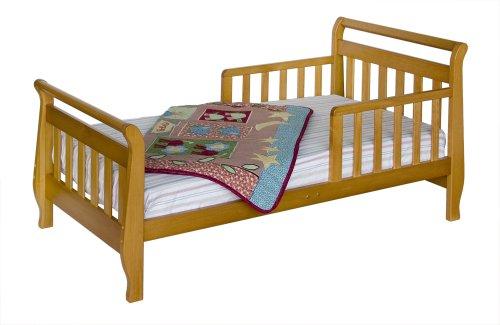 Davinci Sleigh Toddler Bed - Honey Oak front-751088