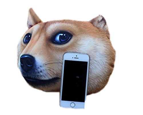 October Elf Car Pillow Head Neck Travel Seat Pillow 3D Animal 12.210.6inch (Akita dog) Vehicles ...