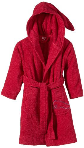 PUMA Kinder Bademantel Foundation Kids Bathrobe, Barberry, 128, 511046 01