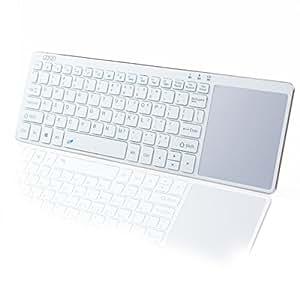 Gosin 超薄型bluetoothキーボード タッチパッド付き 通用型 Windows/Android/Mac末端に対応 (White/Golden)