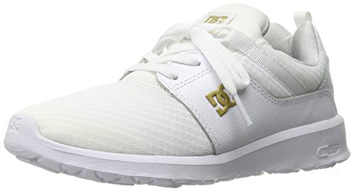 DC Heathrow SE Low Top Shoe, White/Gold, 6 M US