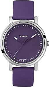 Timex Unisex T2N9269J Originals Classic Round Purple Silicone Strap Watch