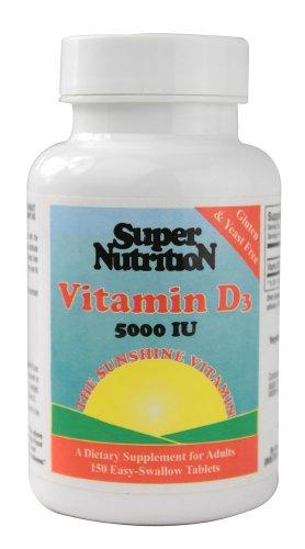 Super Nutrition Vitamin D3 -- 5000 Iu - 150 Tablets
