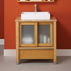 "Tyson 31"" x 22"" x 32"" Bathroom Vanity Set Vanity and Top Finish: Espresso / Carmello Granite"